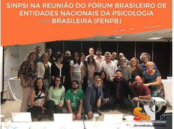 sinpsi na reuniao do forum brasileiro de entidades nacionais da psicologia brasileira